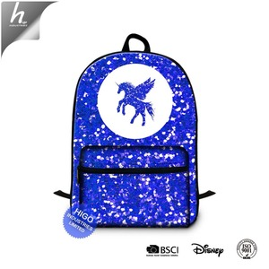 Hot Style Canvas Backpack Accept Customized Blue Pink Red Black Grey Purple White School Bag with Laptop Compartment