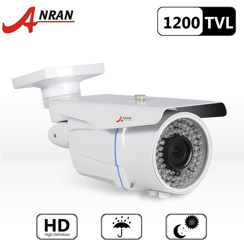 ANRAN 1200TVL SONY CMOS Sensor High Resolution 78IR LEDs 2.8-12mm Vari focal Zoom Color Day Night Vision Infrared Security Waterproof Outdoor/ Indoor Bullet Surveillance CCTV Camera