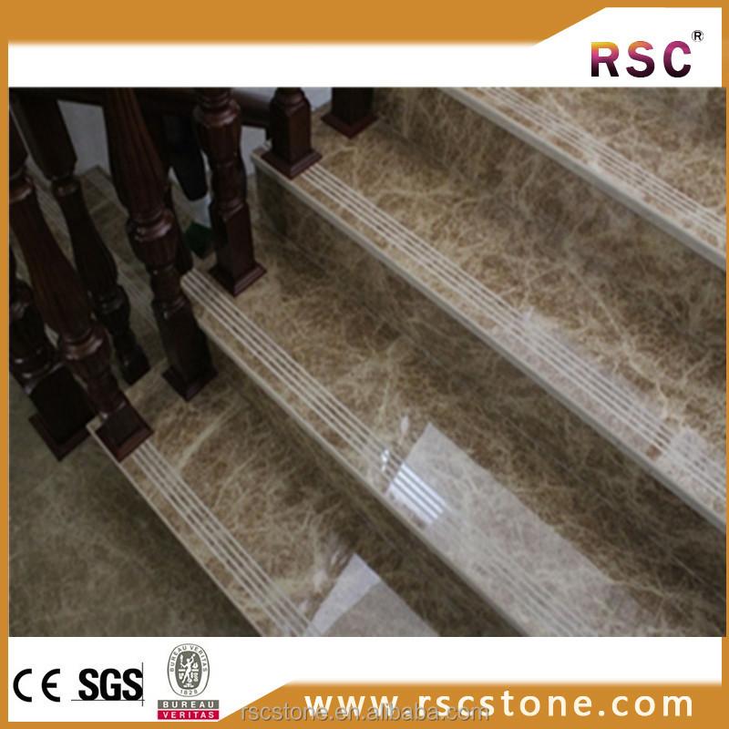 Alta calidad light emperador escaleras marmol precio m2 for Marmol travertino precio m2
