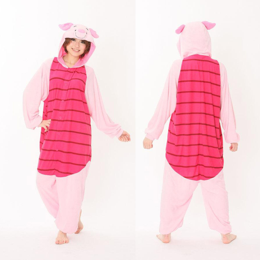 7e9e467429 Get Quotations · Flannel Funny Animal Piglet Pig Adult Onesie Couples  Pajamas Theme Party Cosplay Onesie Christmas Pajamas Carnival