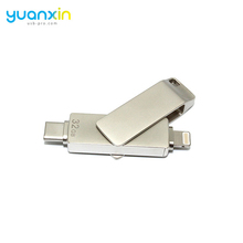 MFi Certificated Dual Port Metal OTG USB Flash Drive for iPhone and Type C