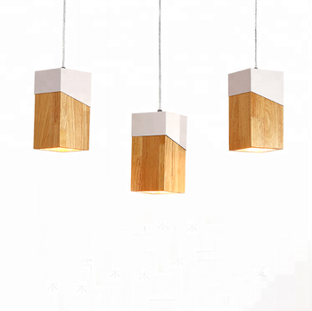 Creative Modern Nordic Aluminum Led Light Fixtures Wood 3 Heads Decoration Pendant Lights For Living Room Lighting 220
