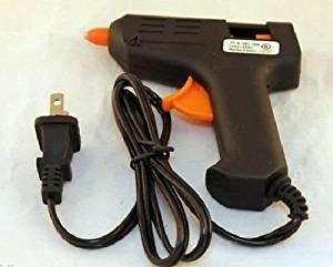 10W Low Temperature Hot Melt UL LISTED Mini Glue Gun w/ Trigger Black 120V~60Hz