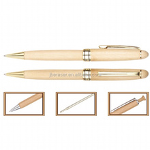 Promotional maple Wooden Ball Pen with customized logo for business Gift