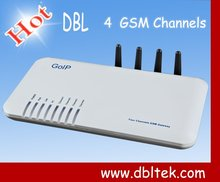 GSM VoIP <span class=keywords><strong>Gerbang</strong></span> dengan 4 kartu SIM di Quad GSM nirkabel 4x Gateway: BUILT-IN Asterisk ip PBX