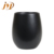 Customized MOQ500pc manufacture matt black anti scald reusable double wall ceramic mug