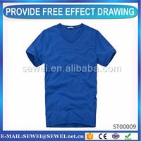 China cheap v neck t-shirt best quality