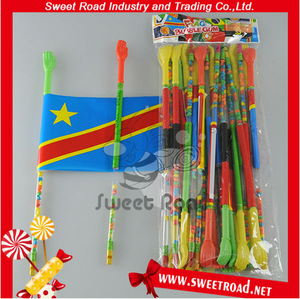 Toy candy Type and Cartoon Toys Style Flag Toy Candy With Whistle