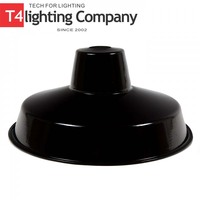 Italian Colored Medium Black Enamel Bulk Lamp Shade
