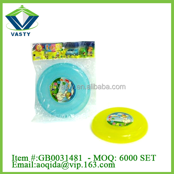 round flying saucer outdoor plastic flying disc