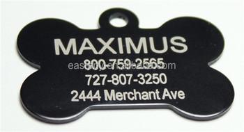 昇華骨型ペットidタグ卸売用小動物猫犬でqrコード buy 昇華ペットid