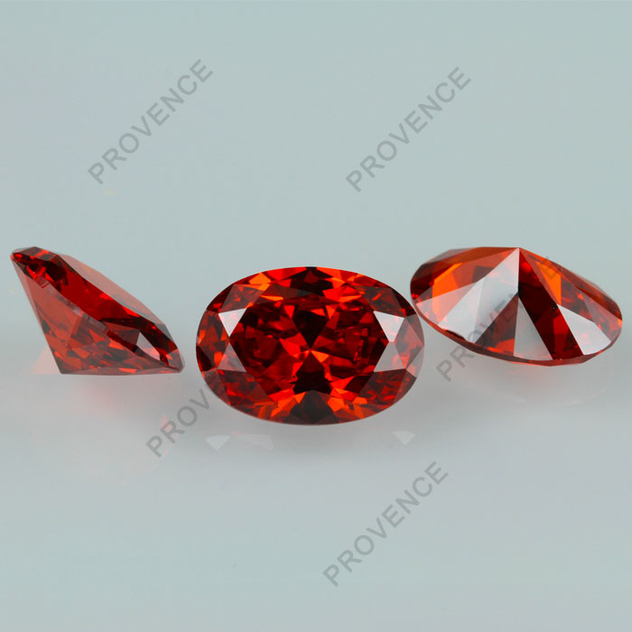 4*6mm 6*8mm 8*10mm Orange Cubic Zirconia Oval