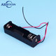 18650 Holder Aa Battery Holder Aa Battery Storage Case Plastic Box Holder For 2 X 18650 Battery Soldering Connecting Black