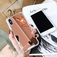 Mirror Phone Case For iphone X XR XS Max Cute Soft TPU Shockproof Cover For iPhone X XS XS Max Bumper Back Cover Case