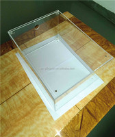 Clear acrylic shoe display case hot selling sneaker glass case wholesale shoe display box