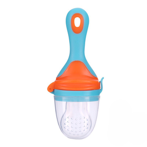 Baby Food Feeder Fresh Fruit Silicone Nipple Teething Toy Reusable Vegetable Fruit Chewable Soother BPA Free