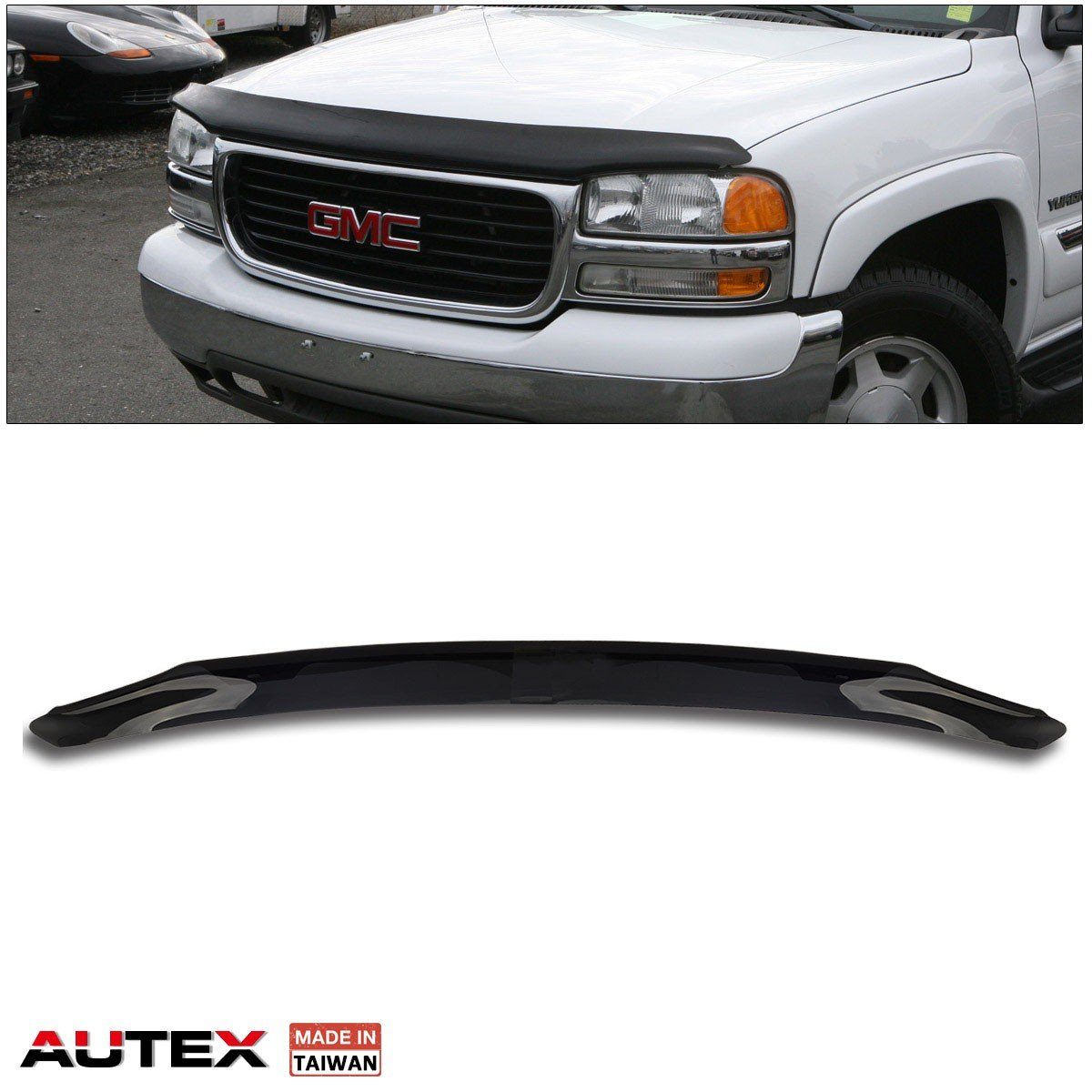 AUTEX Hood Shields Bug Deflector Compatible with Nissan Frontier 2005 2006 2007 2008 2009 2010 2011 2012 2013 2014 2015 2016 2017 Compatible with Pathfinder 2005 2006 2007 Bug Shields Deflector