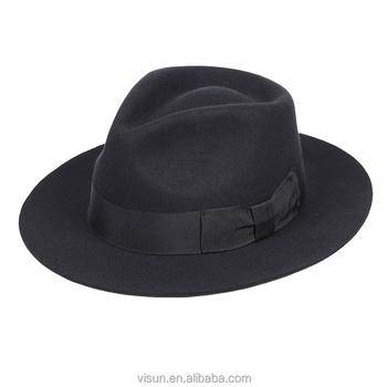 c00c9606eb1 Mens Handmade 100% Wool Felt Indiana Style Crushable Fedora Hat ...