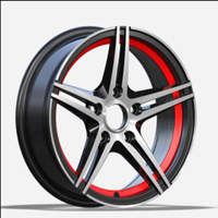 Hot new design car alloy wheels rims with 4/5 holes