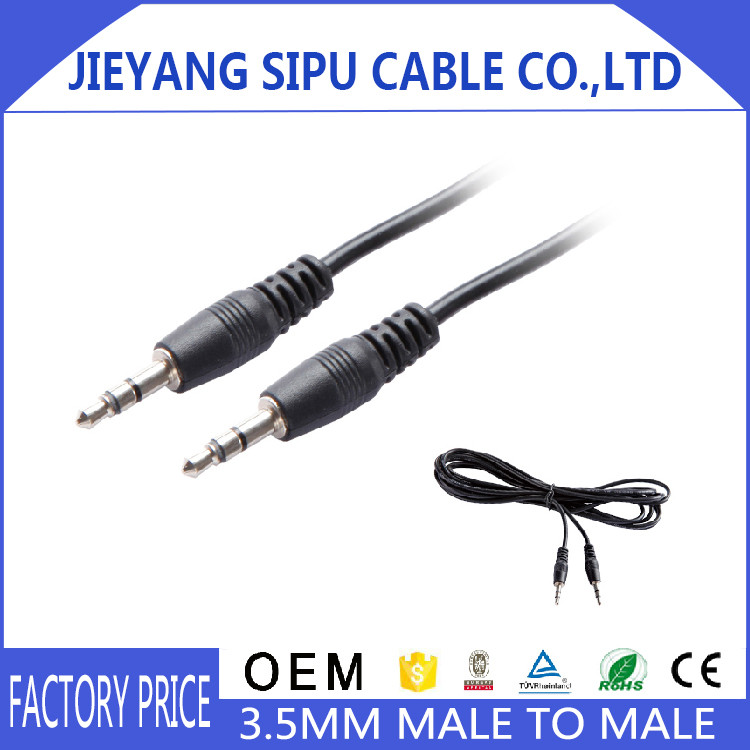 High Quality 1.5m hot sale Moulded 3.5mm jack AUX audio cable