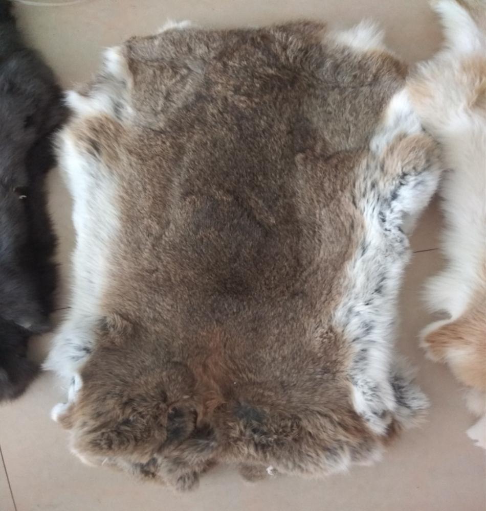 Dyed Rabbit Fur Plate For Garments 100% Real Rabbit Fur Rug Entertainment Memorabilia