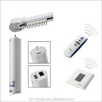 Automatic Home Appliance Wireless Electric Curtain Motor With Silent Moving  Rod Track