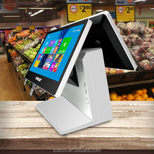 POS manufacturer 15.6 inch all in one touch screen supermarket POS system