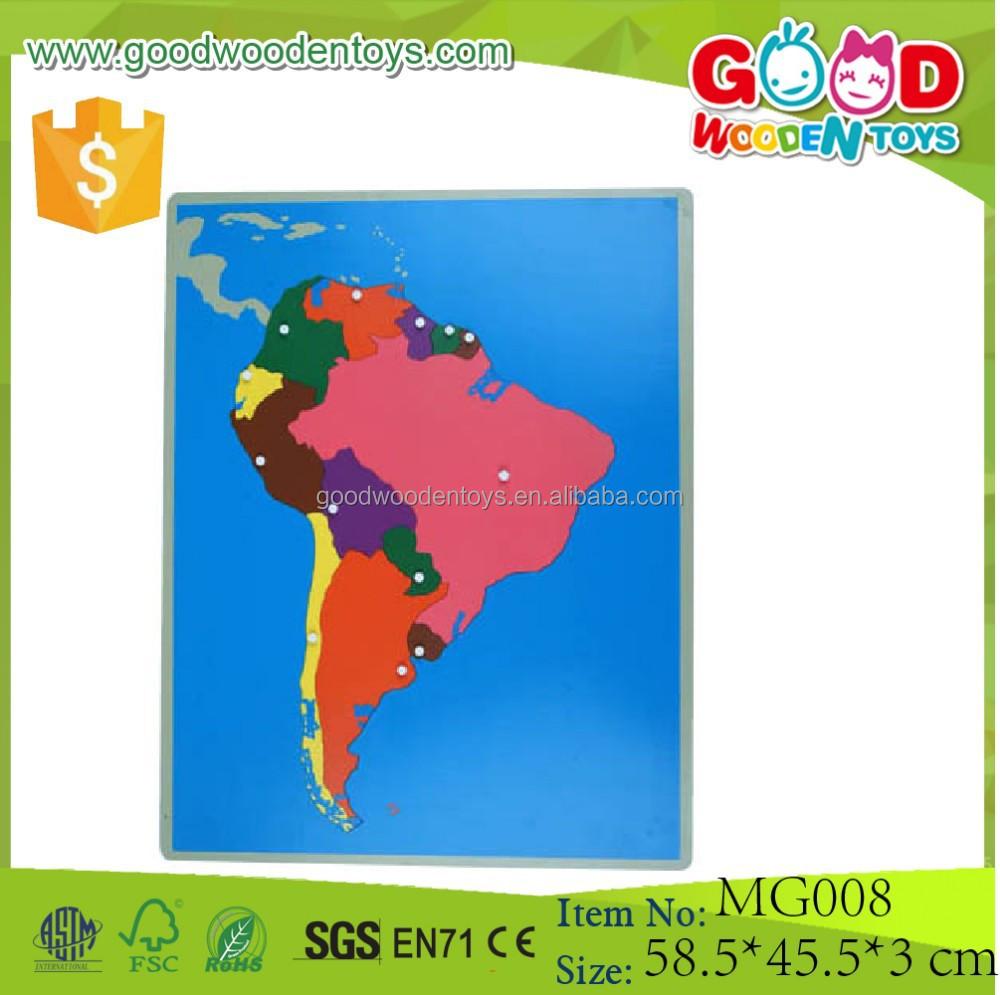 Herramientas De Enseñanza Montessori Nuevo Partido Juego Didactico - America mapa juego