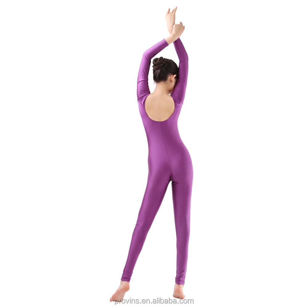 83abc64cc561 New Ballet Unitard Girls Long Sleeve Bodysuits Gymnastics Tights ...