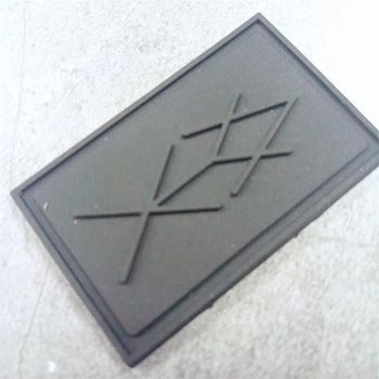 Raised embossing logo sew on label rubber patch