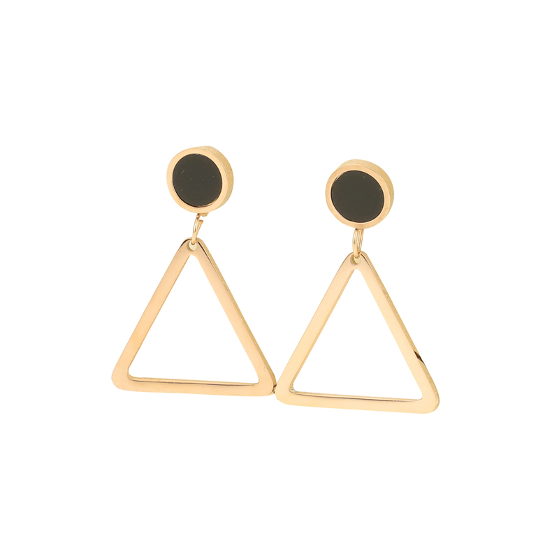 wholesale stainless steel triangle light weight real rose gold fingernail erring posts box fashion pearl jewelry cheap mexico