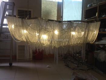 Kronleuchter Teelicht ~ Verchromt kette beleuchtung kronleuchter 2 meter länge pendelleuchte