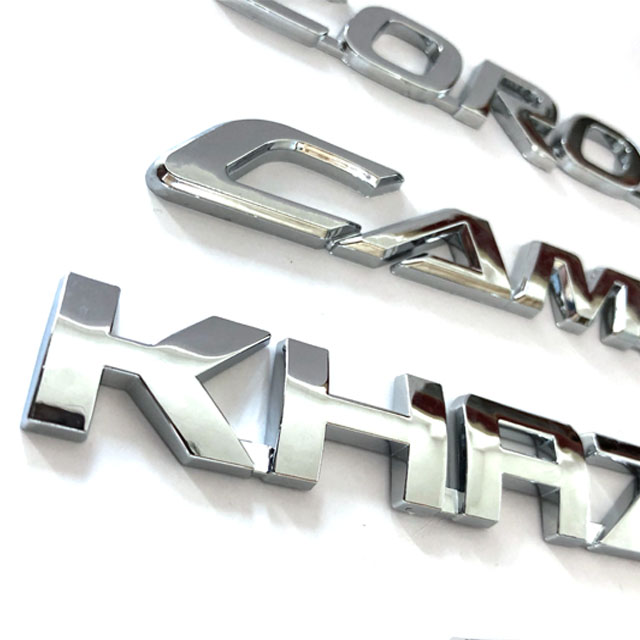 3D plastic Auto Logo/Custom 3D Auto Embleem/ABS Chrome Auto Badge