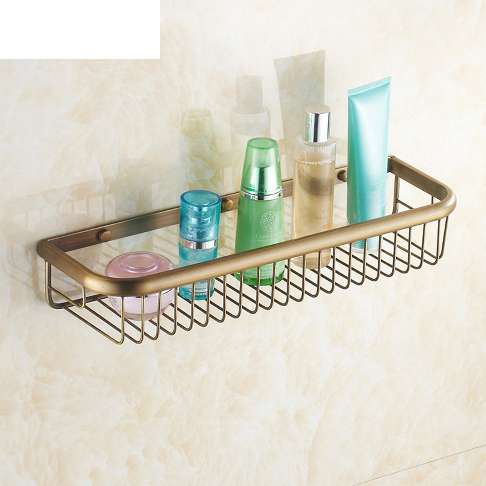 Thickened antique bathroom racks/Copper storage baskets/Wall/Bathroom Bathroom accessories-B