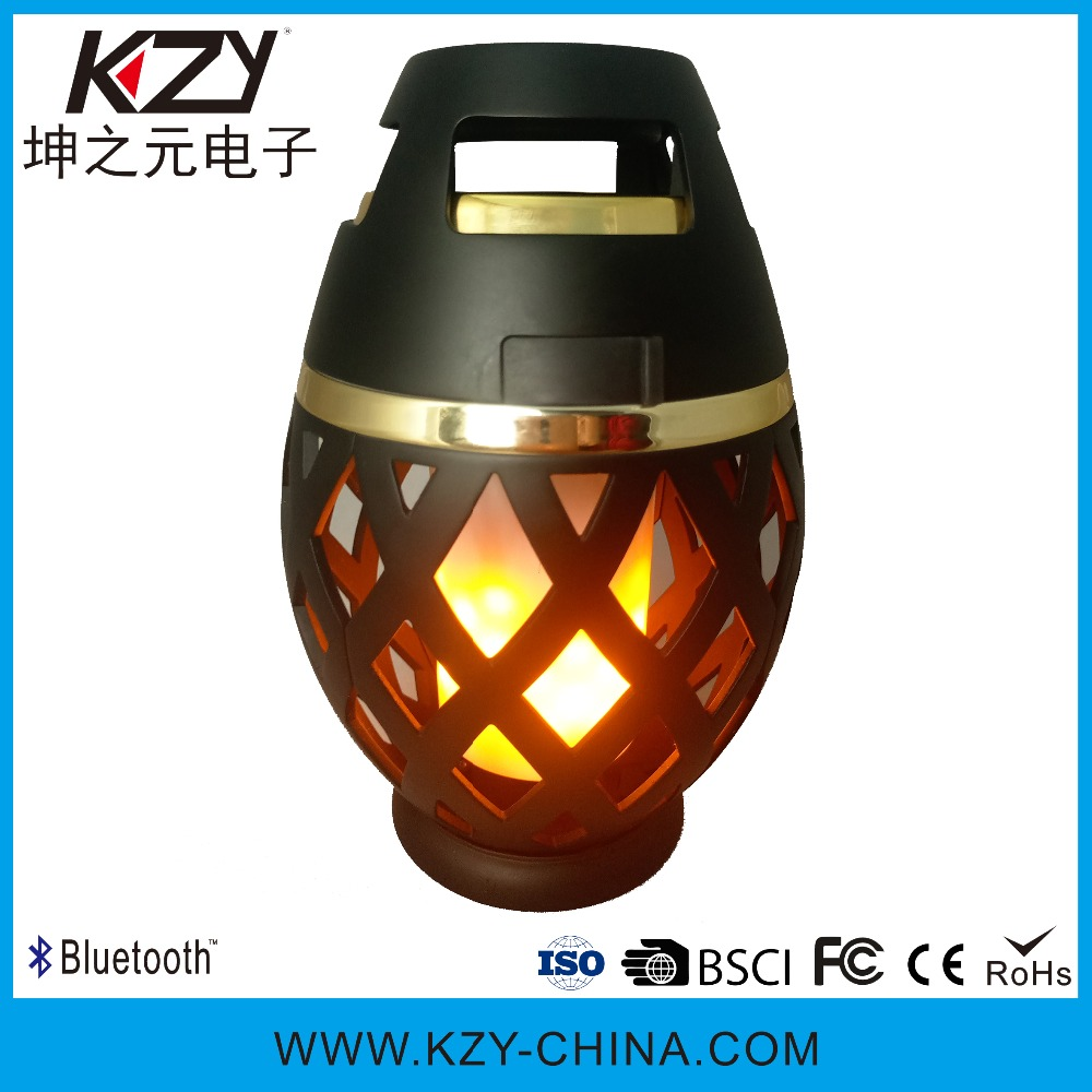 Hot selling outdoor portable stereo torch wireless speaker with flame light bluetooth speaker