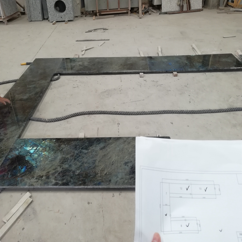 Newest Promotional Blue Marble Granite Kitchen Countertops