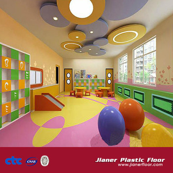 Colorful Pvc Vinyl Floor For Children Room