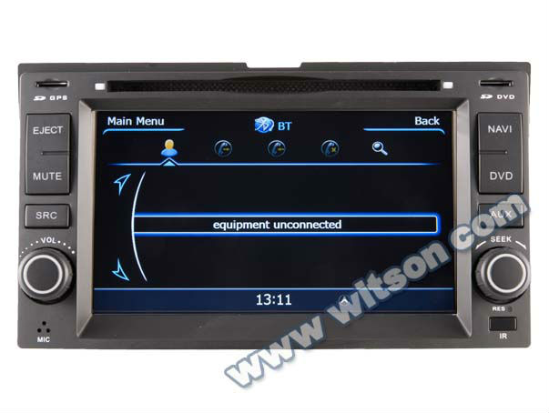 WITSON A8 Chipset KIA SPORTAGE car audio player HD 1080P 1G CPU 512M RAM 3G/ wifi/DVR (Option) with touch screen