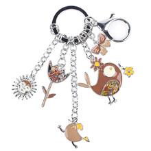 Эмалированный брелок WEVENI для ключей, металлический брелок для ключей для женщин, аксессуары для ключей(Китай)