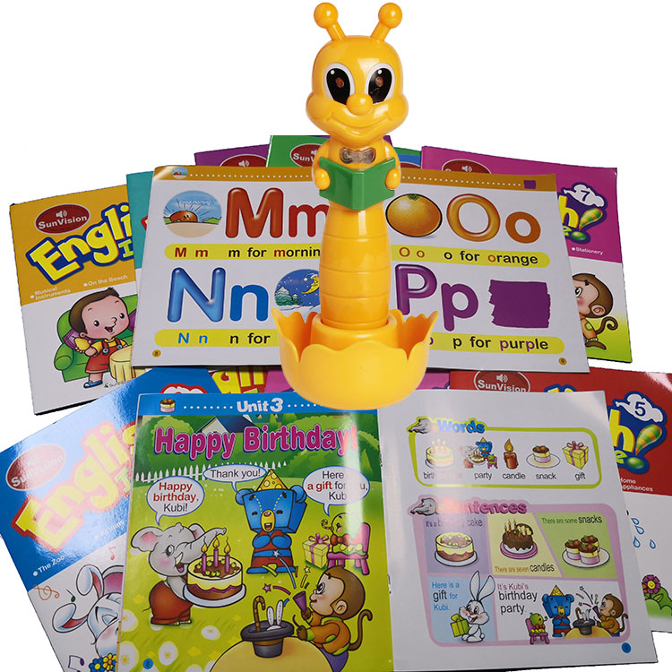 Talking Pen for kids with audio books for kids learning English French Arabic or any language factory OEM ODM