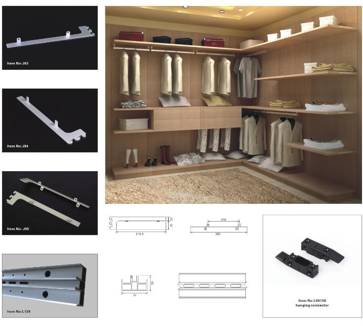 Aluminum Pole System Walk In Closet Factory Wardrobe