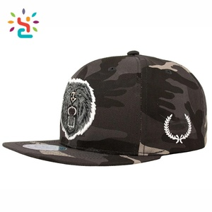 532be2361cd Wholesale camo lion embroidered acrylic snapback hat 6 panels militar  snapbacks military grossiste casquette army cap