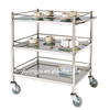 stainless steel tea trolley for hotel
