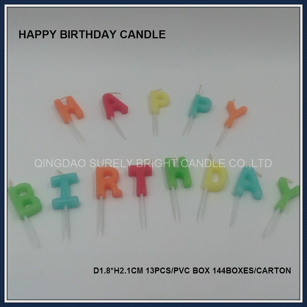 Good Quality Promotion Logo Customized Enlish Letter Birthday Cake Candles