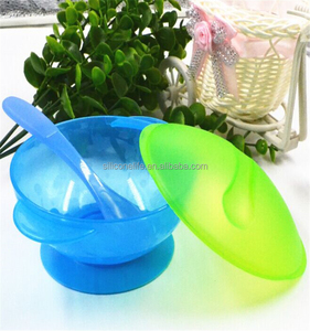 Stay Put Spill Proof Baby Suction Divided Lids Food / Snack Bowl With Spoon Feeding Set
