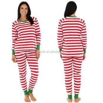 042832176e clothing factory guangzhou china fashion stripe print fashion casual  vintage holiday collection sleepwear import pajamas women