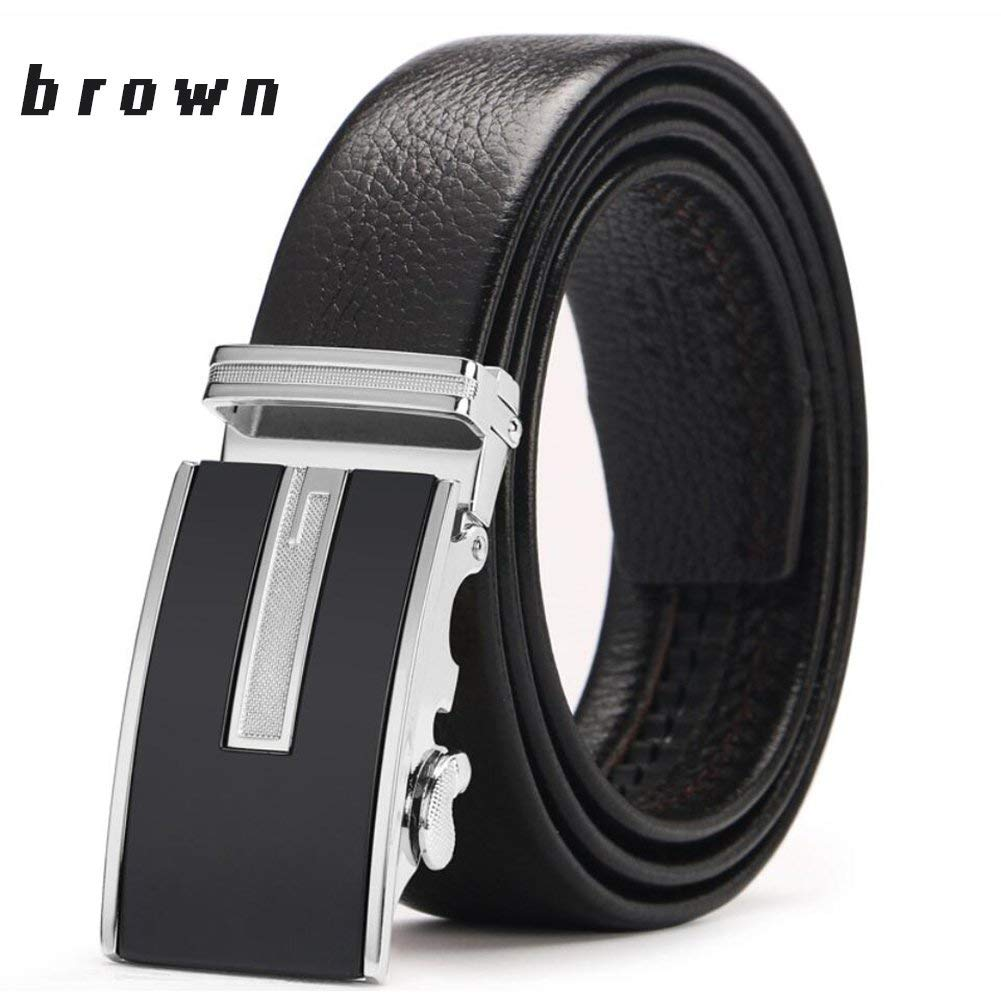 Color : A, Size : 120 XUEXUE Mens Leather Belt,Stainless Steel Buckle,Adjustable Anti-Allergy ,Work Active Basic Leather,Casual Formal Belts,Great for Jeans /& Casual Wear /& Work Clothes Uniforms