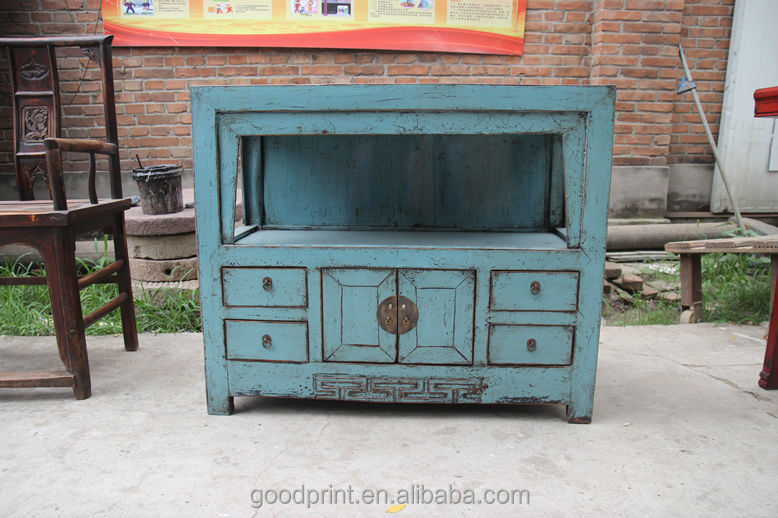 chinese antieke blauwe kleine keuken kast-houten kasten-product-ID ...