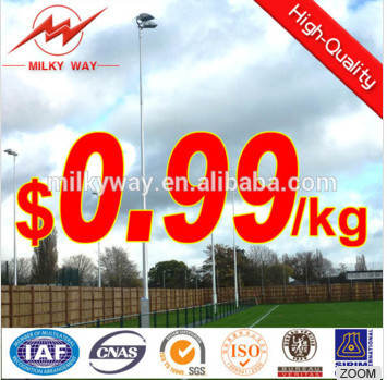 18m football court led flood light high mast poles design
