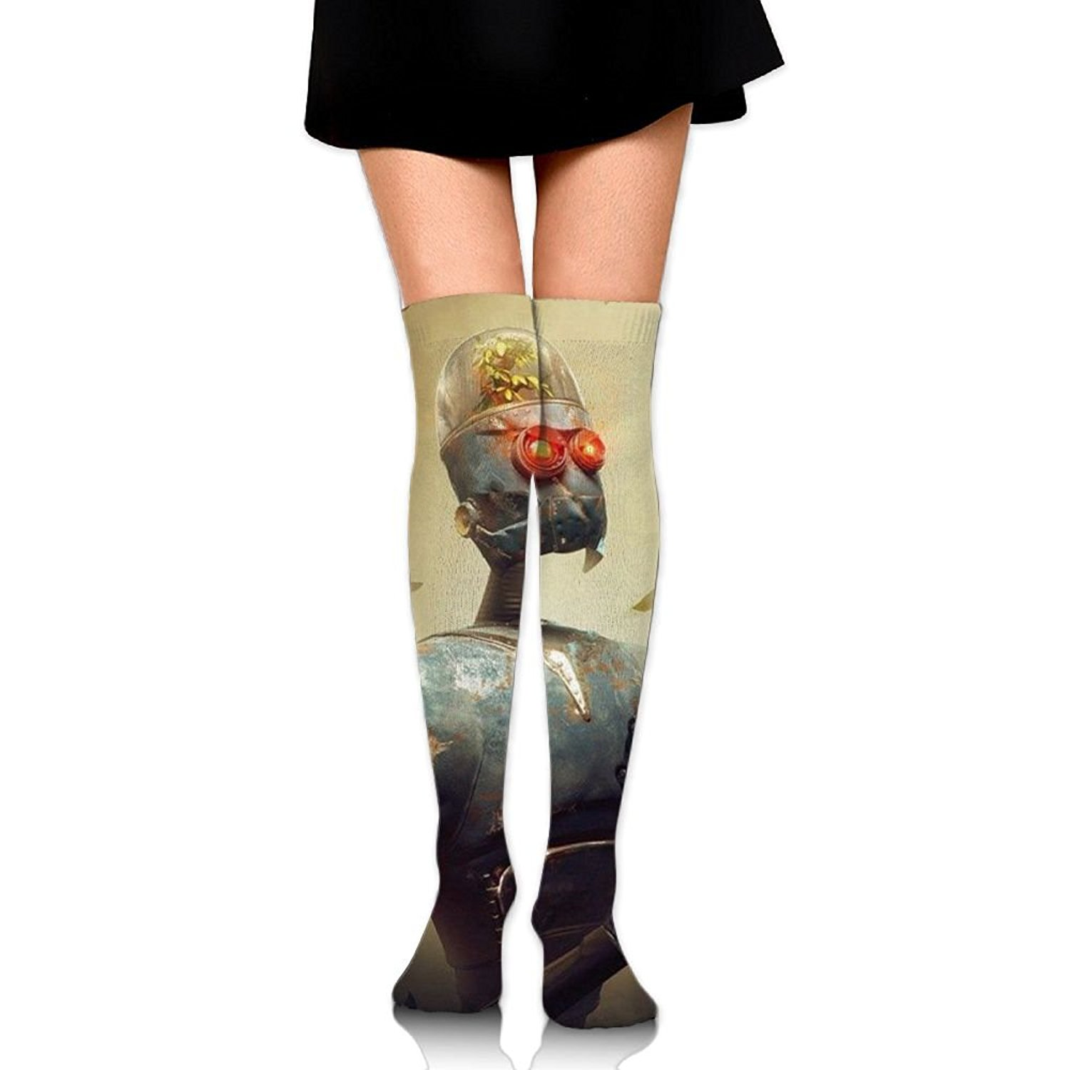 Zaqxsw Robot Devout Women Fashion Thigh High Socks Over The Knee Socks For Ladies